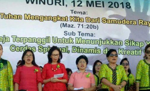 Ribuan WKI GMIM Bersatu di Hapsa 2018