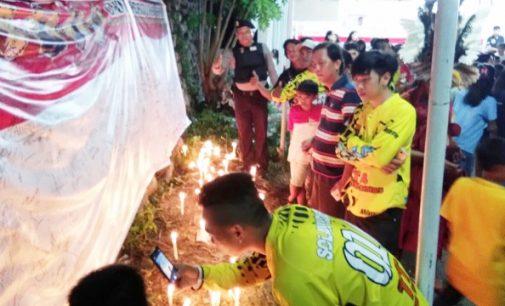 Begini Rangkaian Aksi Seribu Lilin Dari Kecamatan Tenga Untuk Indonesia