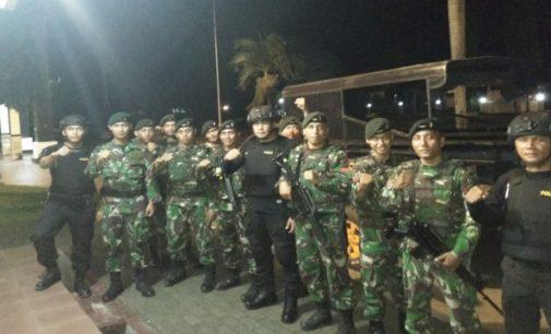 Tingkatkan Keamanan, Polres Minsel dan Kompi C/712 Amurang Gelar Razia Gabungan