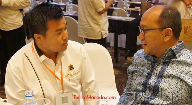 Ivanry Matu bersama Ketua Kadin Indonesia Rosan Roselani