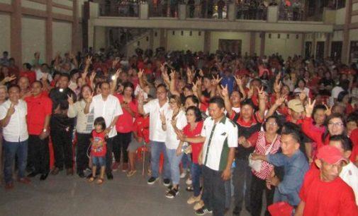 Kampanye Dihadiri Ribuan Massa, JANTJE SAJOW Buktikan Warga Tombulu Kompak Menangkan R3D