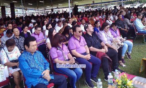 Membludak! Perayaan Paskah Dan HUT Kerukunan Keluarga Kawanua Dihadiri Ribuan Orang