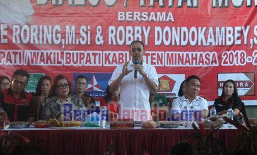 ROYKE RORING Kampanye Terbatas di Kawangkoan