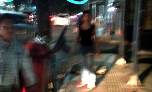 Driver Cantik Ini Dianiaya Dua Orang Tak Dikenal di Jalan Sam Ratulangi