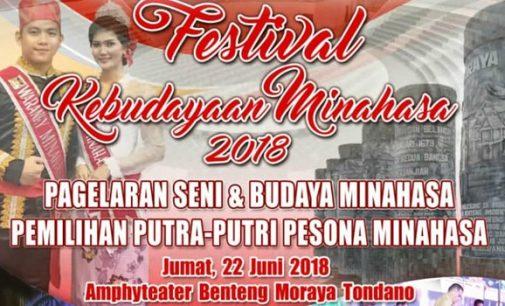 Festival Kebudayaan dan Pemilihan Putera-Puteri Pesona Minahasa Siap Digelar
