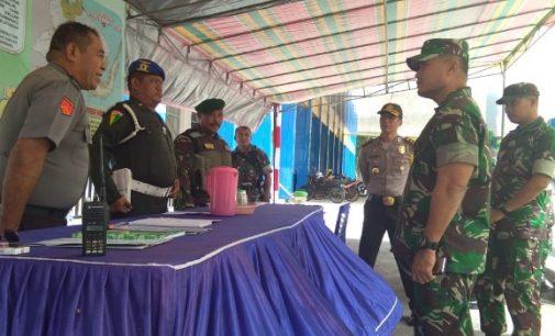 Kapolres Bitung Dampingi Danrem 131 Santiago Tinjau Pos PAM Lebaran 2018