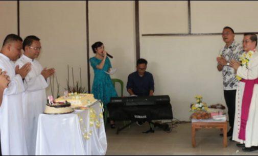 Jimmy Eman Hadiri Perayaan Ekaristi 40 Tahun Seminari Agustianum