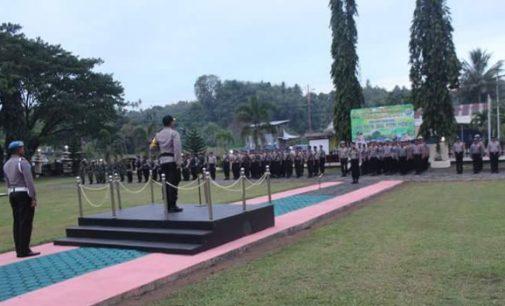 Kapolres Winardi Prabowo Pimpin Apel Kesiapan Pengamanan Idul Fitri 1439 H