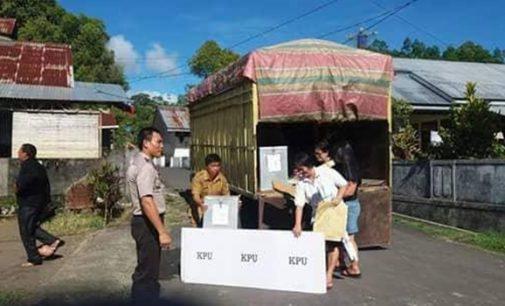 PPK Kawangkoan Salurkan Logistik Pilkada Minahasa
