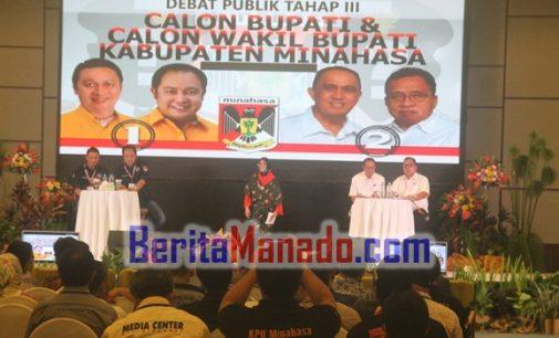 ADVETORIAL: Debat Publik Ketiga Pilkada Minahasa, Persembahan Terbaik KPU Minahasa