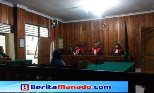 JPU Tetap Tuntut Dua Tahun Penjara Mantan Bendahara Inspektorat Bitung