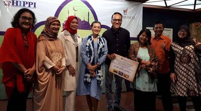 Suasana acara penyerahan santunan 1000 anak yatim dan dhuafa se-Jakarta dari DPP HIPPI (Dok Perwira Management)