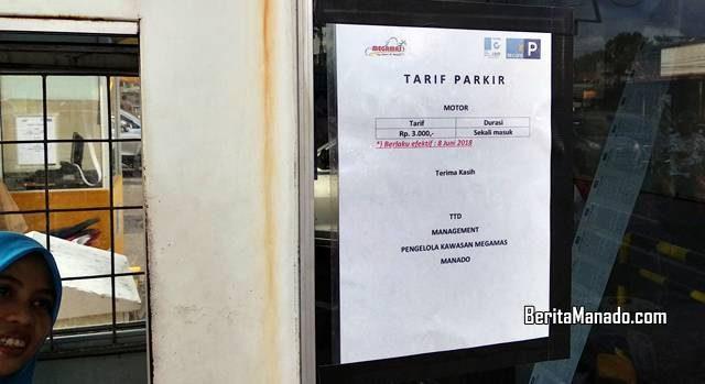 Tarif parkir masuk Kawasan Megamas Manado