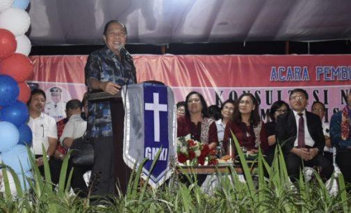 Wali Kota Bitung Bitung Minta GMKI Pelopor Bangun SDM Takut Tuhan