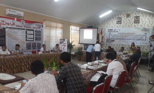 KPU SULUT Sampaikan Hasil Penelitian Administrasi Dokumen Syarat Pencalonan DPD