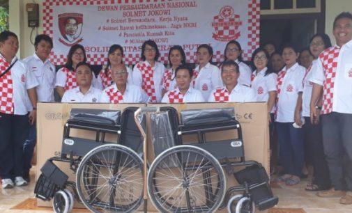 Solmet Jokowi Bantu Tuna Daksa di Dimembe