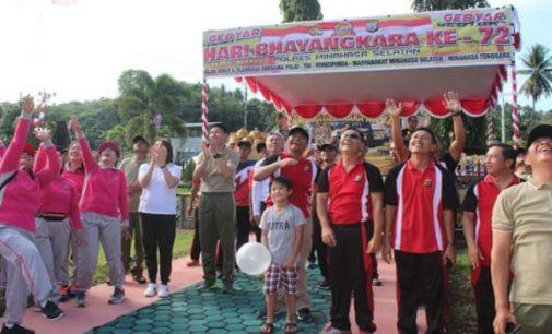 Meriah !!! Gebyar Hari Bhayangkara ke-72 di Polres Minsel