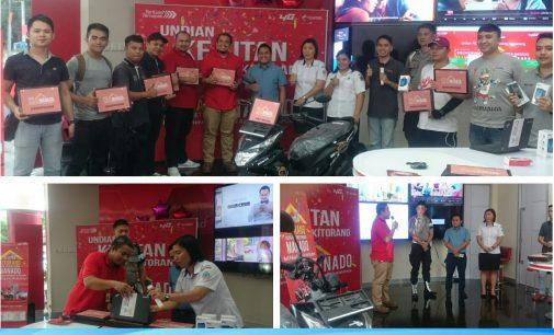 Kejutan Kitorang Kuota Internet Orang Manado, Pelanggan Telkomsel Raih Undian Moto