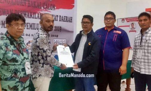 NasDem, Parpol Pertama yang Berkas Daftar Calon Anggota DPRD-nya diterima KPU Manado