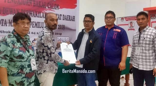 KPU Manado menerima pendaftaran Partai Nasdem Manado