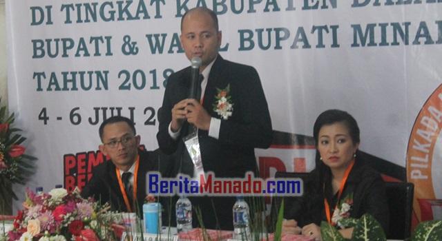 Ketua KPU Minahasa Lord Malonda