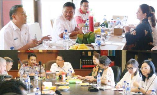 Eman Presentasikan TIFF 2018 di Hadapan Gubernur dan Kapolda Sulut