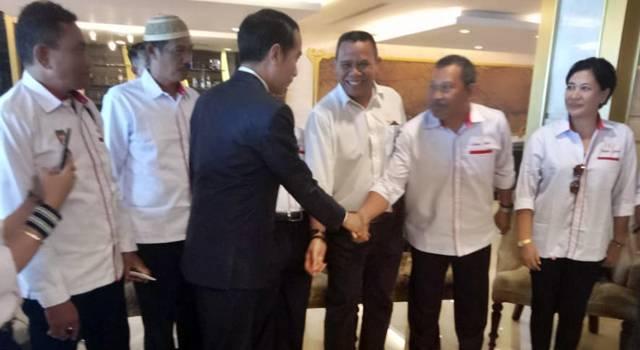 Relawan Sedulur JOKOWI saat bertemu Presiden JOKOWI