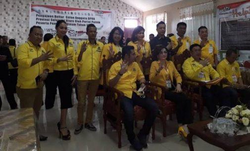 Mendaftar Jam 1 Siang, Ini Nama-nama Caleg Partai Golkar dari 6 Dapil untuk DPRD Sulut