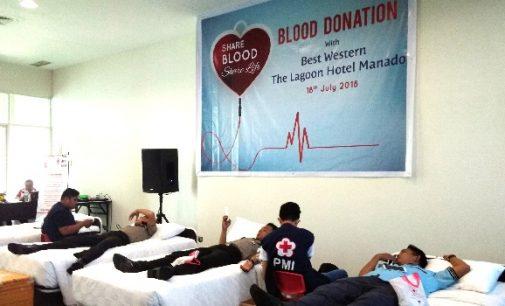 Bantu Tambah Stok Darah di PMI, Best Western The Lagoon Hotel Gelar Donor Darah