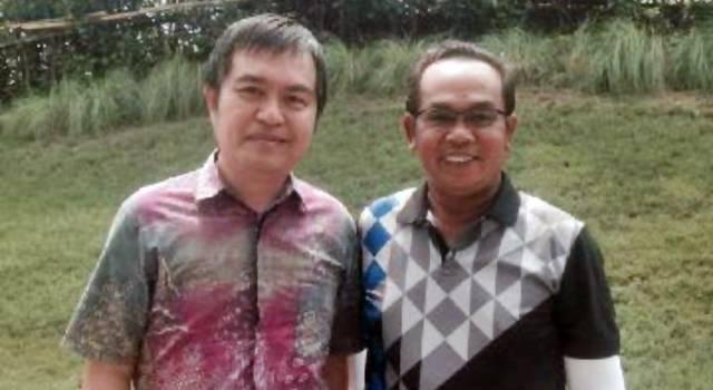 Saiful Mujani (kanan).