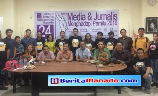 HUT ke-24, AJI Bahas Tanggungjawab Jurnalis Terhadap Kualitas Legislator
