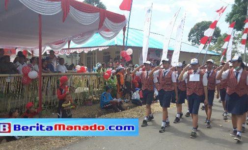 Lomba Gerak Jalan Warnai HUT Proklamasi Indonesia di Minahasa Utara