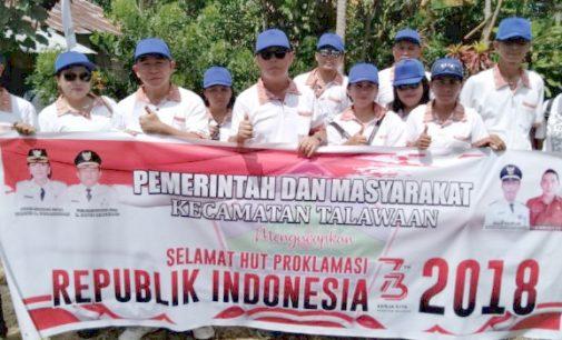 Kecamatan Talawaan Semangat Menyambut HUT RI