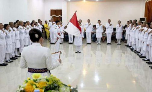 Bupati TETTY PARUNTU Kukuhkan Anggota Paskibraka Minsel 2018