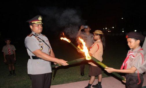 Upacara Taptu dan Pawai Obor Awali Peringatan Hari Kemerdekaan RI