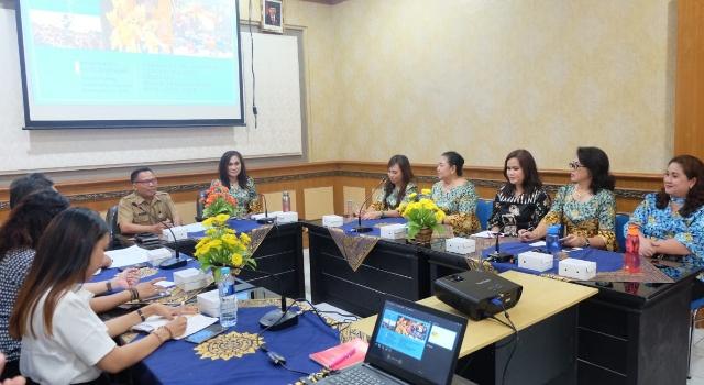 Khouni bersama rombongan saat berkunjung ke Pemkot Denpasar dan