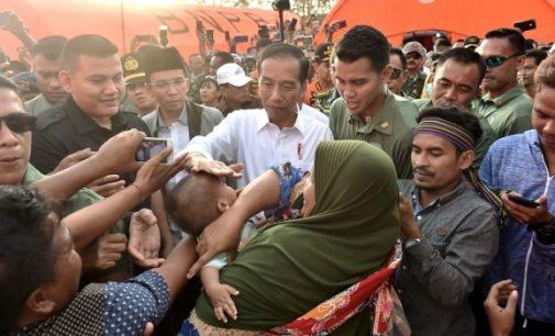 Lihat Langsung Kondisi Lombok, JOKO WIDODO Bawa RISHA Untuk Korban Gempa