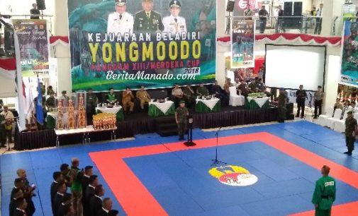Wakili VICKY LUMENTUT, MOR BASTIAAN Hadiri Pembukaan Kejuaraan Yong Moodo Pangdam XIII/Merdeka