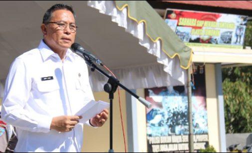 Wali Kota Tomohon Irup Apel Gelar Pasukan Operasi Mantap Brata 2018