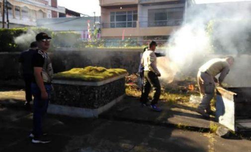 Polres Minsel, Kodim 1302 dan Pemkab Minsel Bersihkan Pusat Kota Amurang