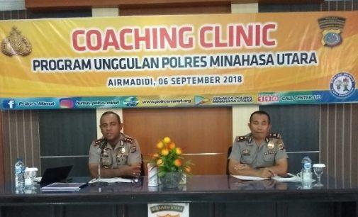 Kapolres Minut Pimpin Coaching Clinic Program Unggulan