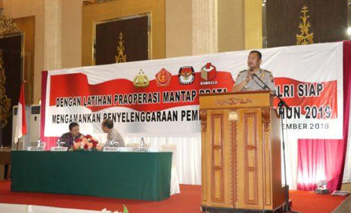Jelang Pemilu 2019, Polda Sulut Gelar Latpraops Mantap Brata Samrat-2018