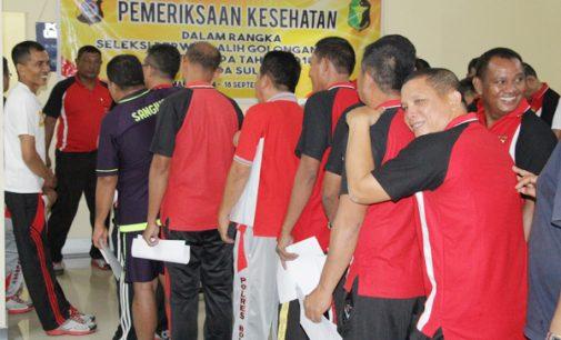 60 Anggota Polri Berpangkat Aiptu di Sulut Jalani Tes Kesehatan
