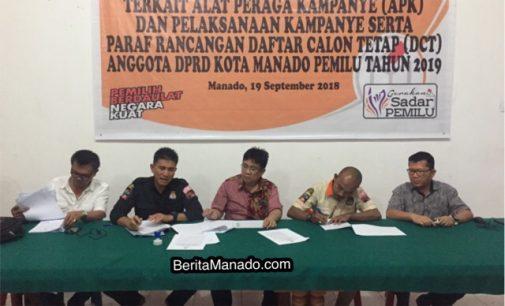 KPU Tetapkan 507 Caleg DPRD Kota Manado Untuk Pemilu 2019