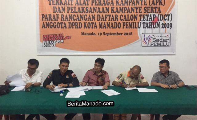 Pleno DCT Anggota DPRD Kota Manado, Kamis (20/9/2018)