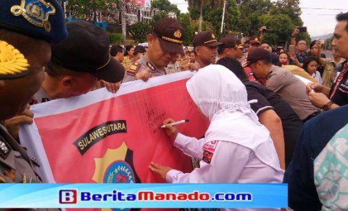 Polres Bitung Deklarasikan Kampanye Damai 2019
