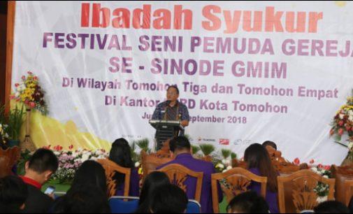 Ibadah Syukur Pembukaan FSPG Sinode GMIM, Ini Pesan Wali Kota Tomohon
