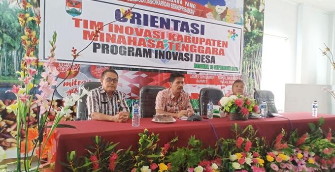 Asisten I Drs Gotlieb Mamahit disela membuka Orientasi Tim Inovasi Kabupaten Program Inovasi Desa
