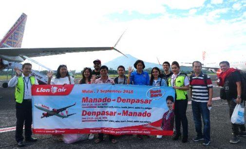Mulai Hari Ini, Lion Air Buka Penerbangan Langsung Manado Denpasar