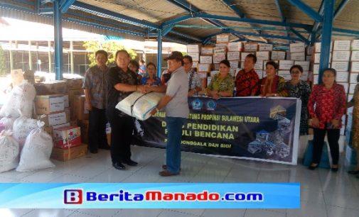Dinas Pendidikan Bitung Serahkan Bantuan untuk Korban Bencana Sulteng